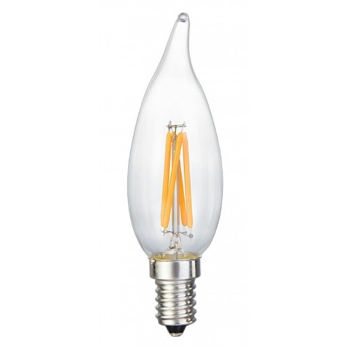 Energy Saving 6 Watt Led Filament Candelabra Light Bulb Dimmable Soft White 2700k Flame Tip Exact Equivalent To Standard 60w Incandescent Chandelier