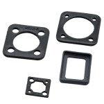 Thermoplastic rubber gasket for male plugs
