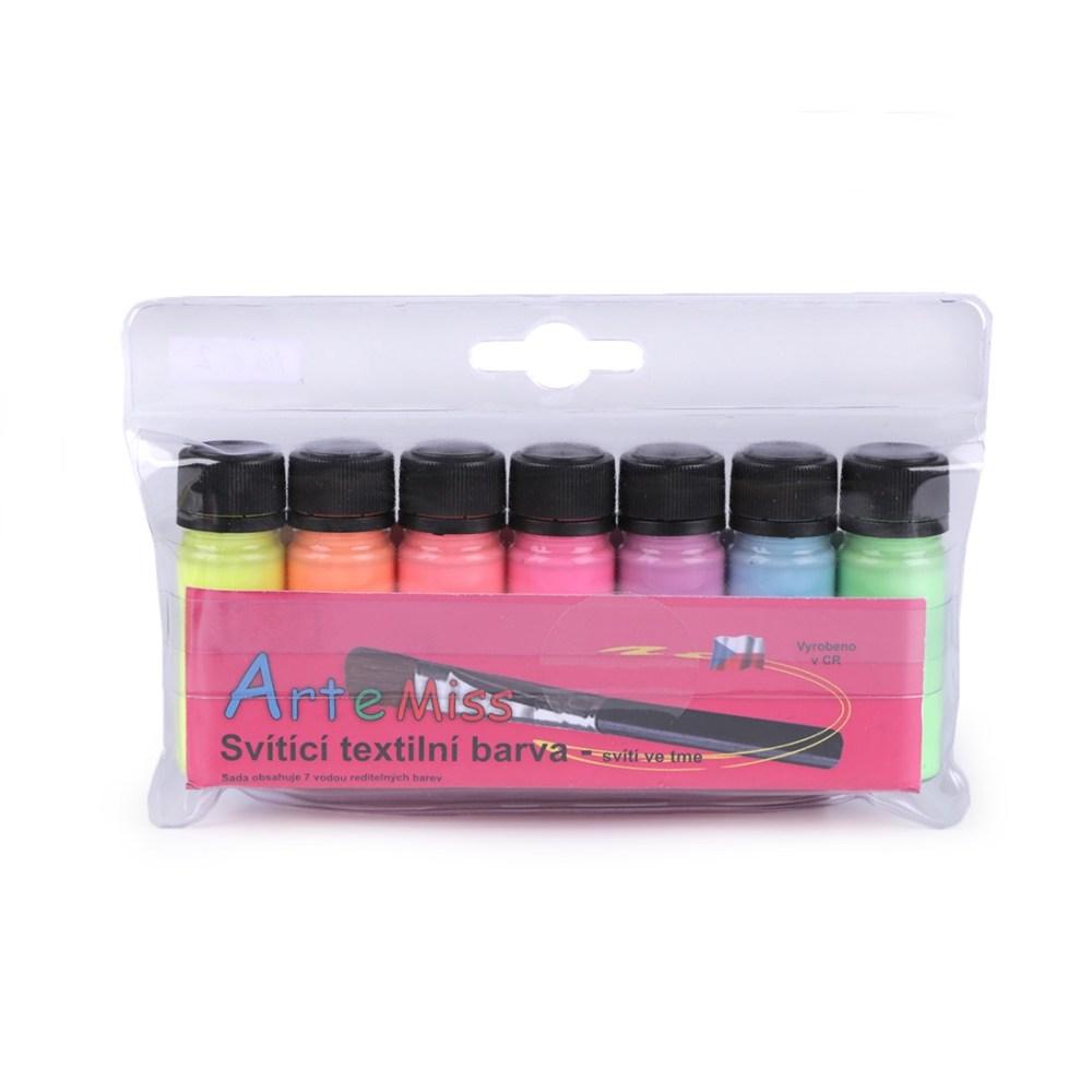 Farby na textil svietiace v tme-Oma & Luj