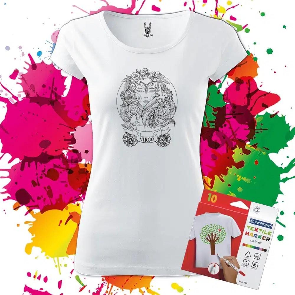 Dámske tričko Panna - Znamenia - Omaľovánka na tričku - Oma & Luj