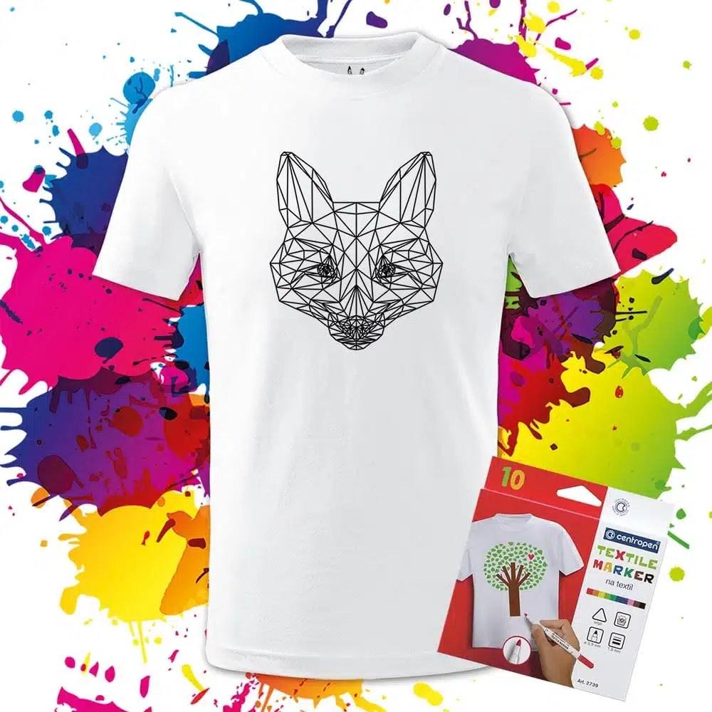 Detské tričko líška - Omaľovánka na tričku - Oma & Luj