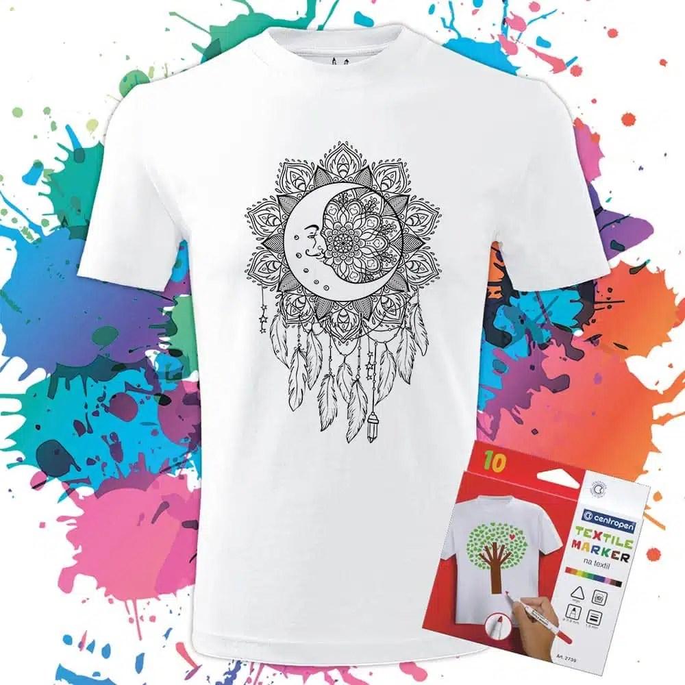 Pánske tričko Lapač Snov - Omaľovánka na tričku - Oma & Luj