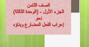 شرح درس اعراب الفعل المضارع وبناؤه نحو لغة عربية للصف العاشر الفصل الاول