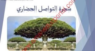 شرح درس شجرة التواصل الحضاري لغة عربية للصف الثاني عشر الفصل الثاني