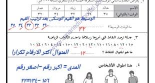 مراجعة عامة 1  نموذج مع الحل رياضيات للصف السادس الفصل الثاني 2019-2020