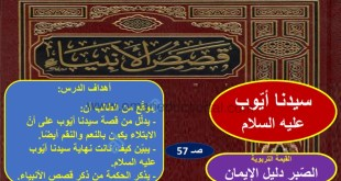 شرح درس سيدنا أيوب عليه السلام تربية اسلامية للصف التاسع الفصل الاول