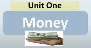 حل الوحدة الاولي Unit One Money لغة انجليزية للصف العاشر الفصل الاول