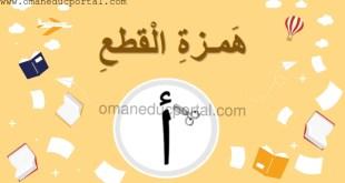 شرح شامل لدرس همزة القطع مع أمثلة تدريبية لغة عربية للصف السابع الفصل الاول