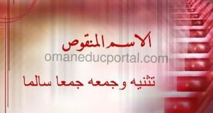 شرح درس الاسم المنقوص لغة عربية للصف العاشر الفصل الثاني