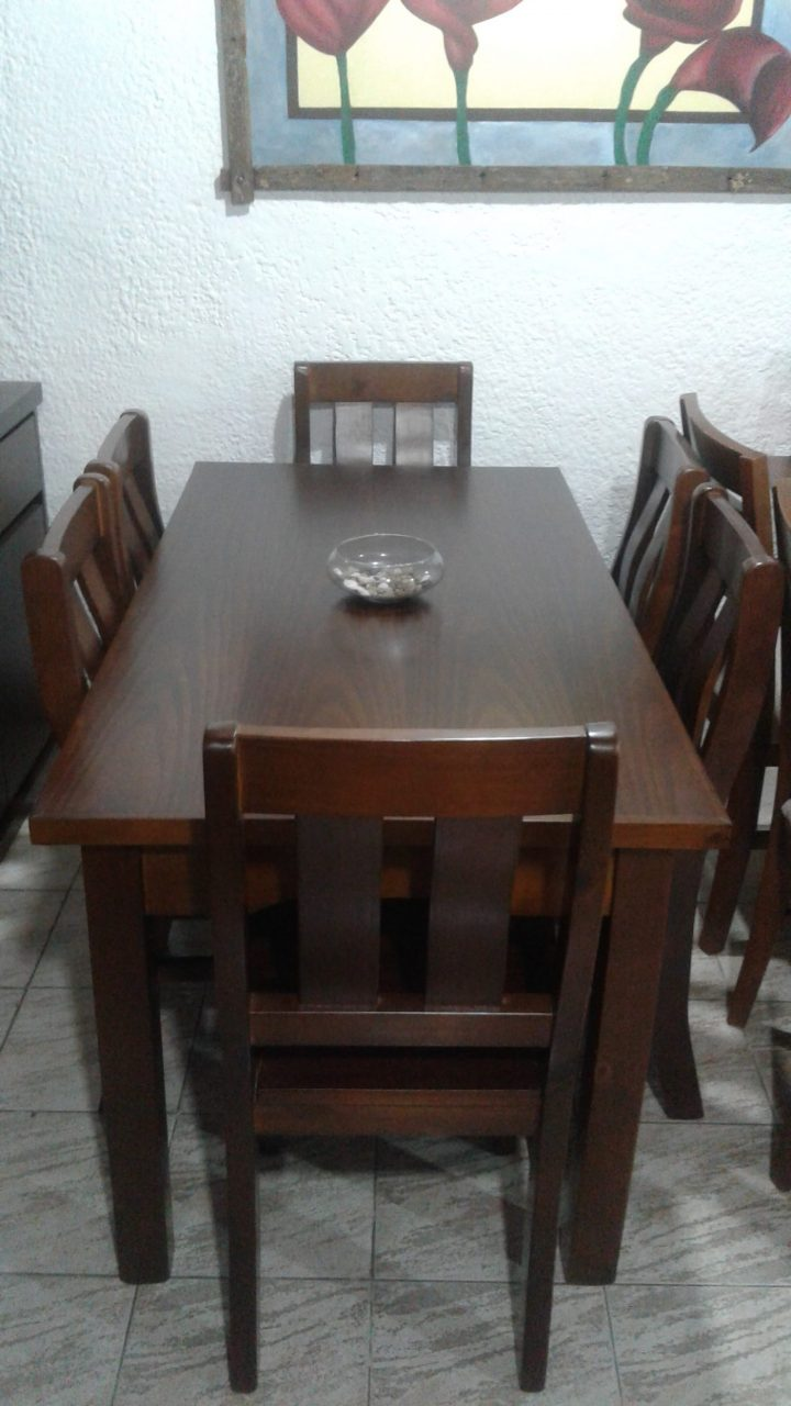 Juego de Comedor Classic Mesa de 160 x 080 con 6 sillas
