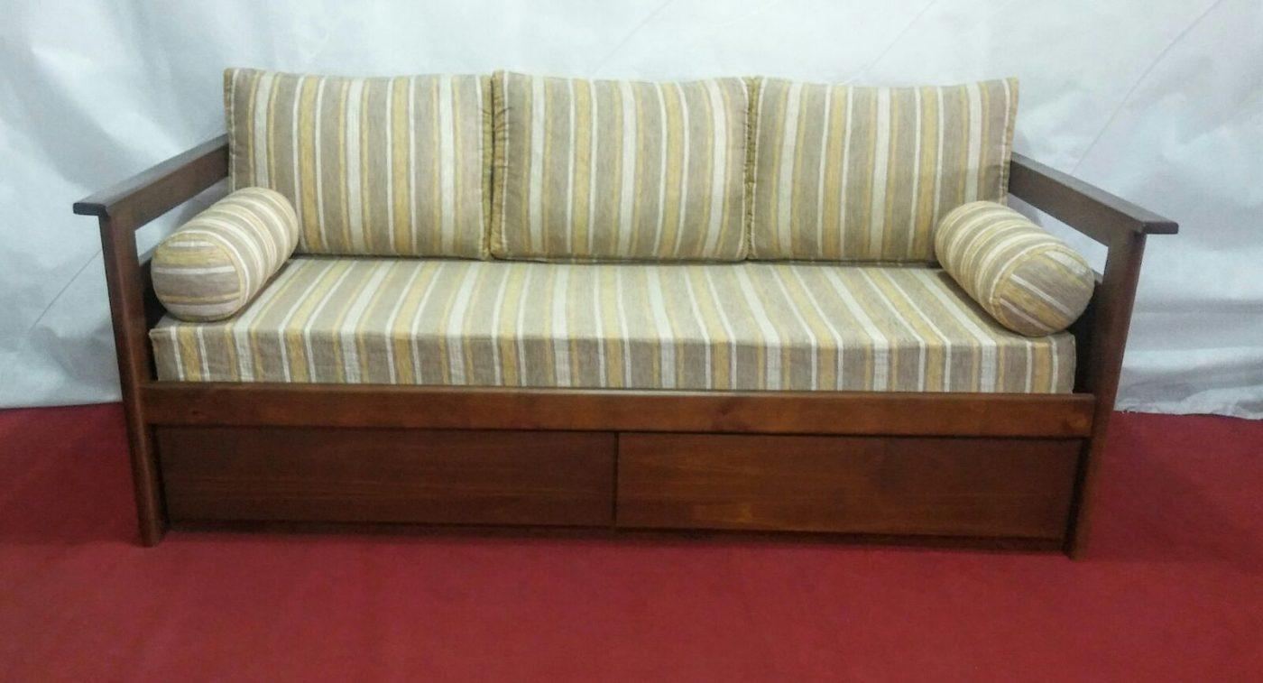 mercadolibre uruguay sofa cama usado most comfortable sleeper 2018 sofá con cajones en madera ombú muebles