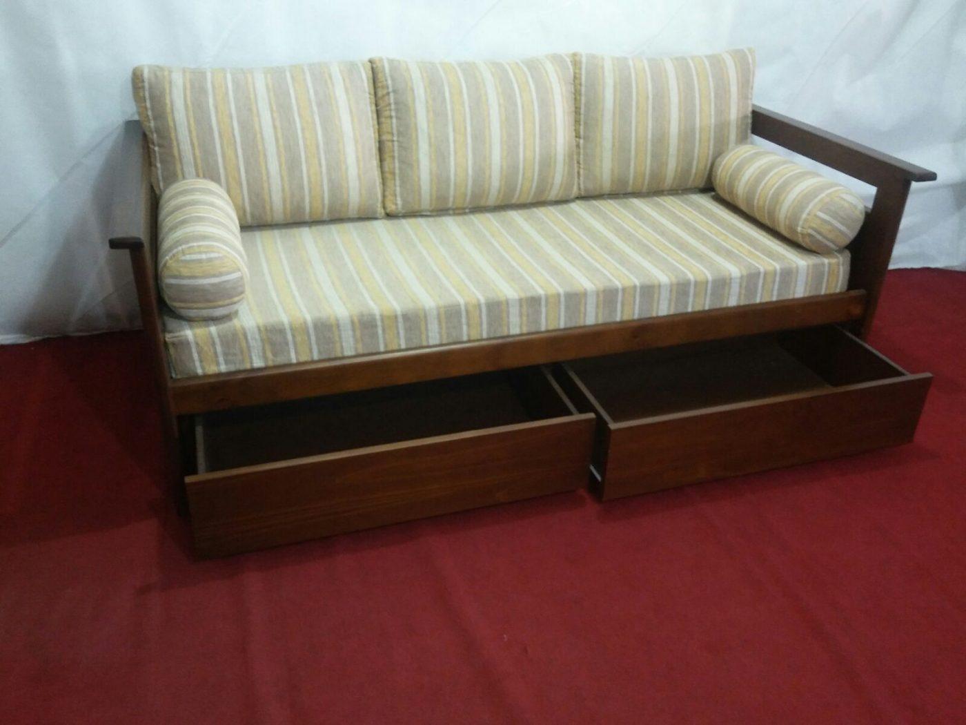 mercadolibre uruguay sofa cama usado corner and cuddle chair set sofá con cajones en madera ombú muebles
