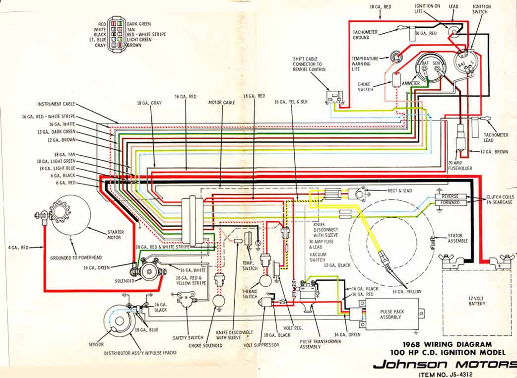 hight resolution of 1968 johnson 100hp v4 outboard wiring diagram