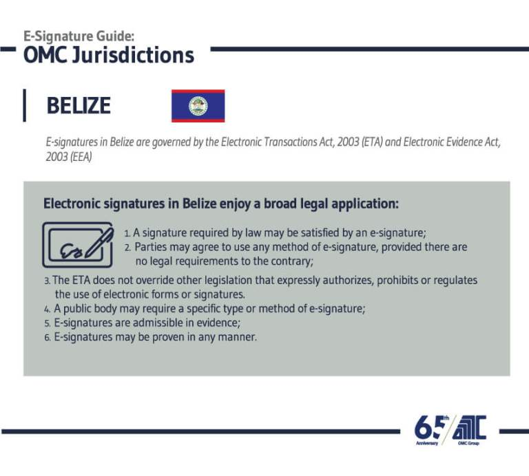 Belize- E-Signature Guide OMC Group Jurisdictions