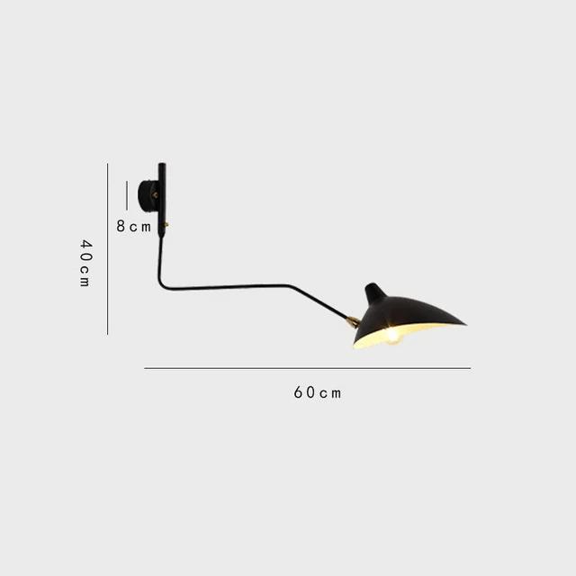 applique mural simple bras designer pour intérieur moderne et design 60cm