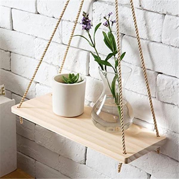 Etagère balançoire en bois clair ou foncée style scandinave