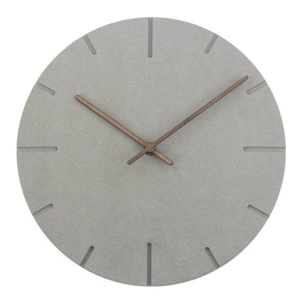 Horloge murale en bois gris minimaliste design style scandinave