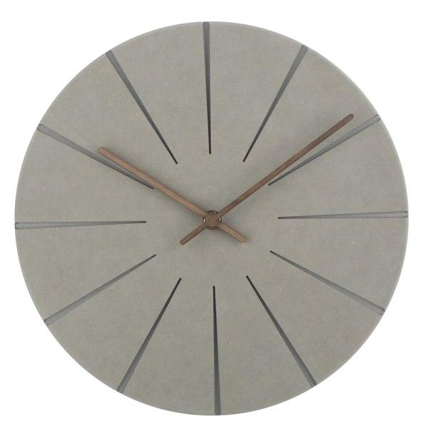 Horloge murale en bois gris foncé design style scandinave