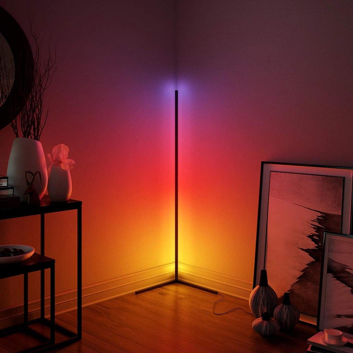 lampadaire d'ambiance led rvb