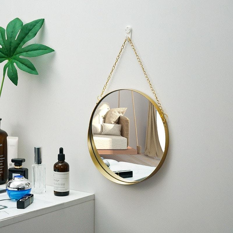 miroir de décoration murale pour intérieur scandinave et industrielle
