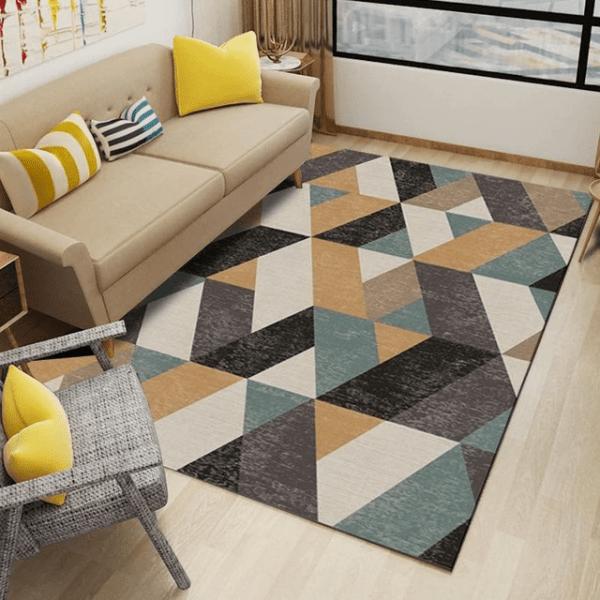 tapis motifs géométrique abstrait décoration intérieur