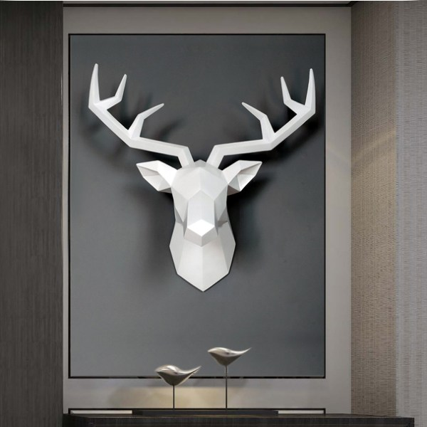 décoration mural tête de cerf pour décoration intérieur