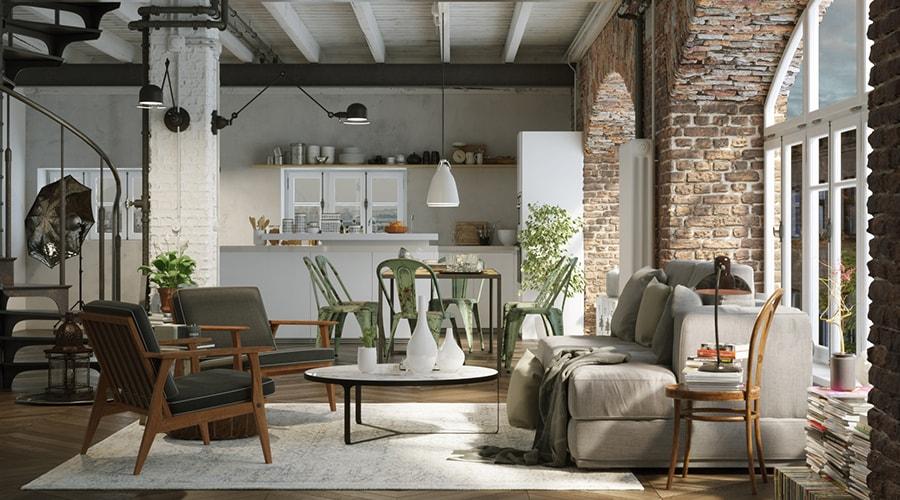 décoration intérieure de style industrielle