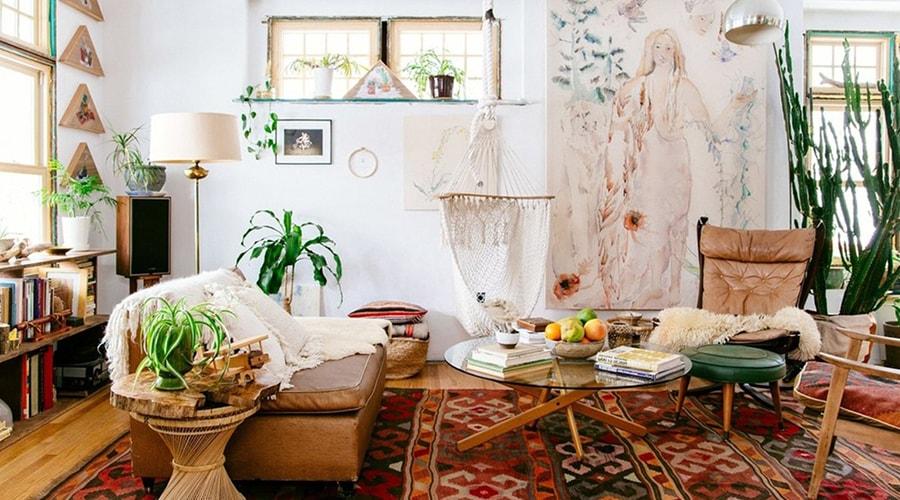 couleurs décoration intérieur style bohème