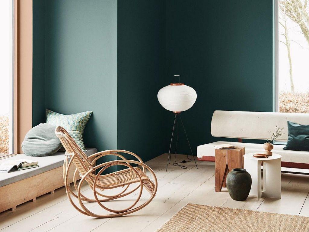 décoration tendance murs vert foncé