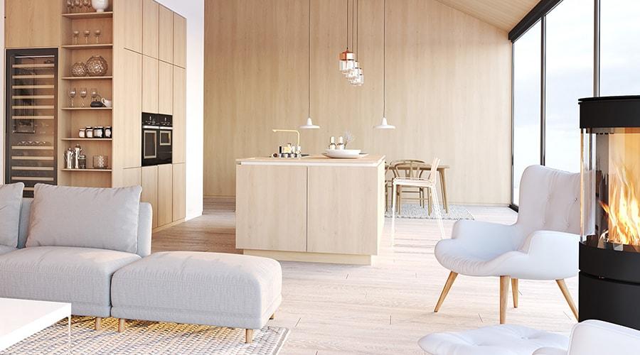 revêtement sol clair décoration design scandinave