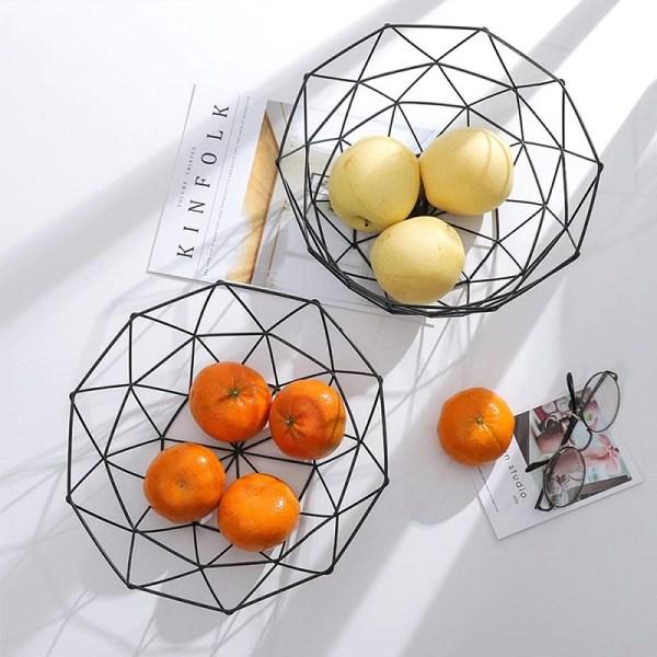 corbeille de fruit de décoration en métal design