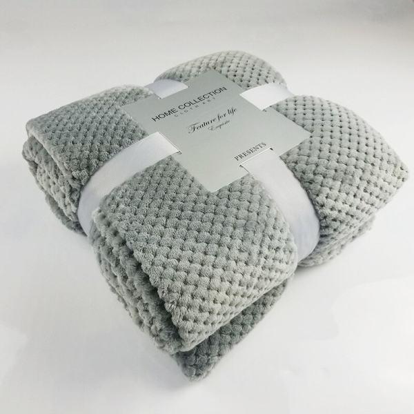 plaid confort chaud flanelle couleur gris