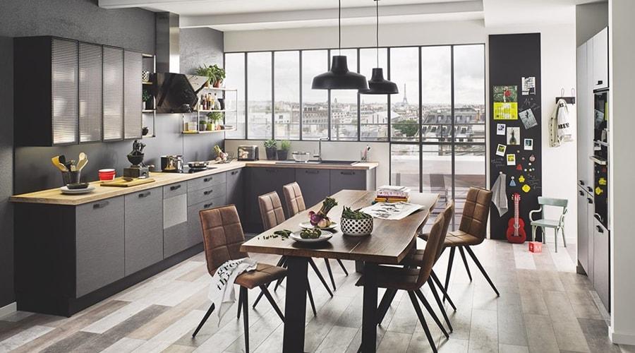 métal bois cuisine design