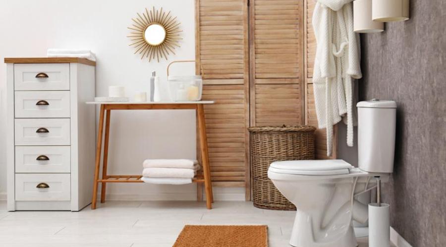 comment décorer toilettes objets éclairage