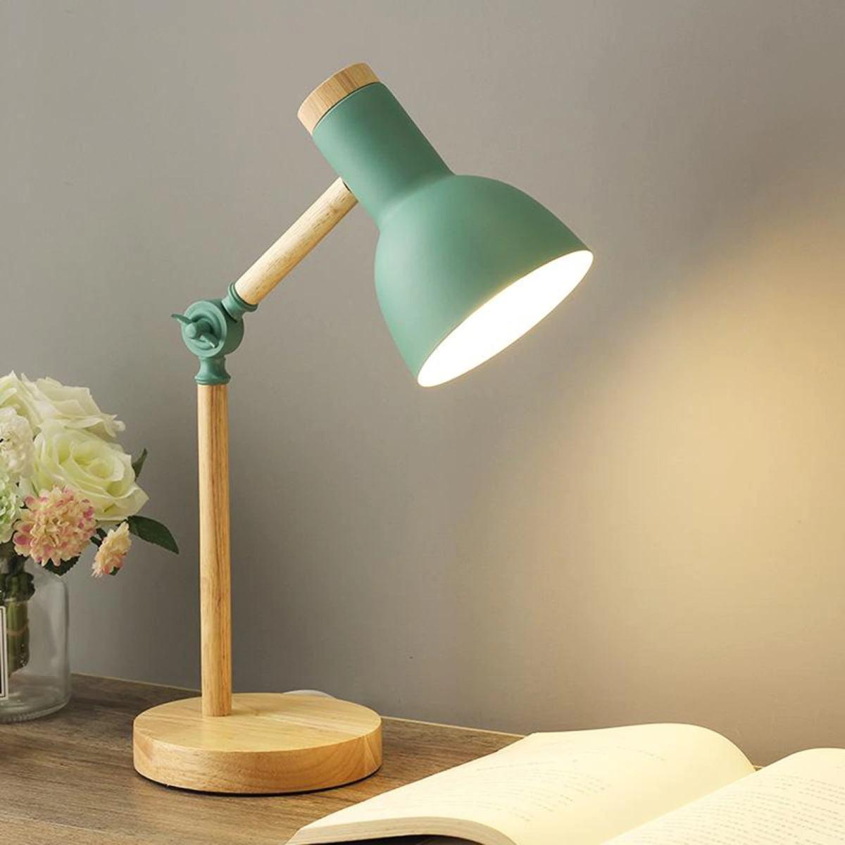 lampe de bureau scandinave ajustable vert