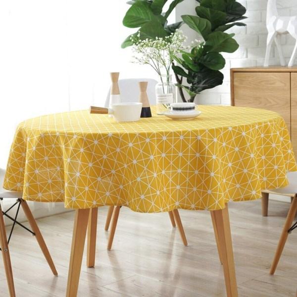 nappe ronde pour décoration art de la table