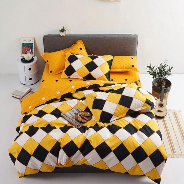 parure de lit style arlequin décoration intérieur