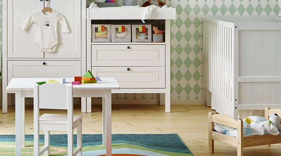 rangement chambre bébé meubles rangement