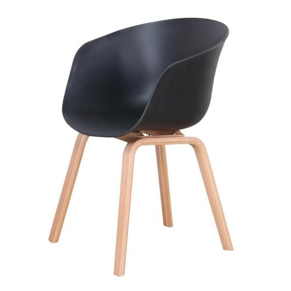 fauteuil scandinave salle à manger noir