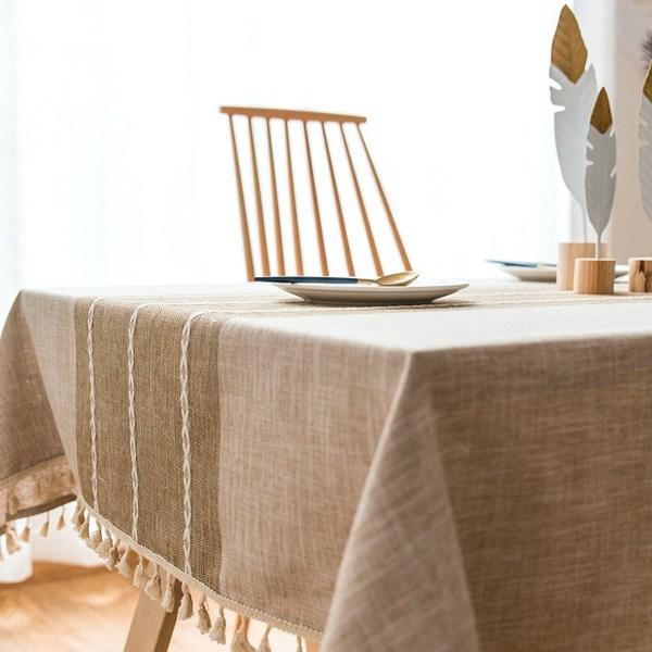 nappe en lin et coton décoration table