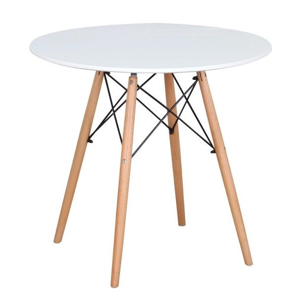 table a manger ronde scandinave blanc