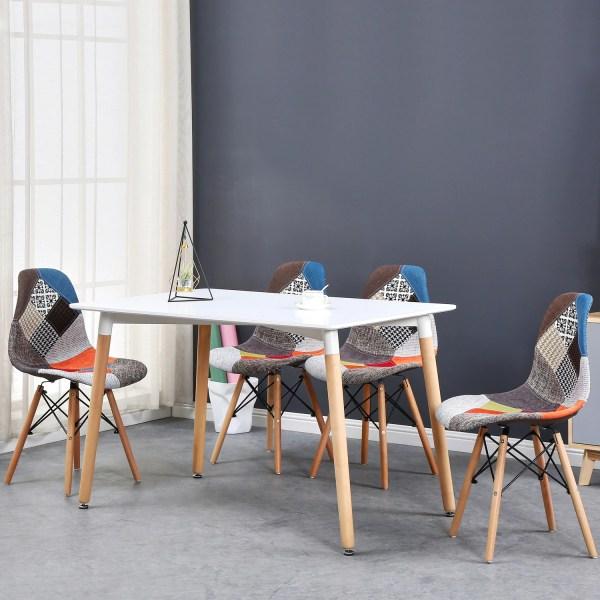 ensemble 4 chaises deco scandinave