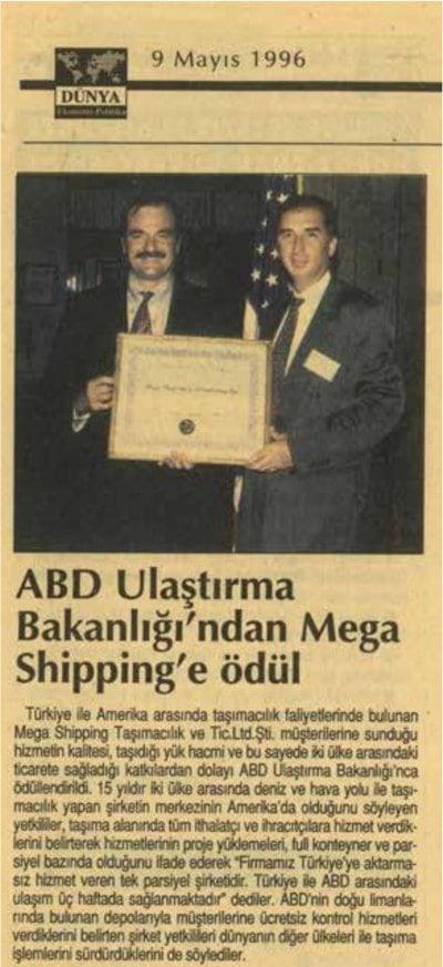 ADB Ulaştırma Bakanlığı Ödülü (1996)