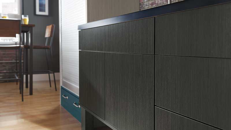 kitchen cabinet hardware trends commercial exhaust hood veneer, textured & high gloss laminate cabinets - omega