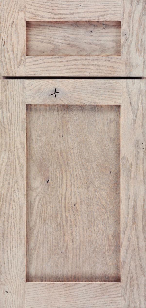 Porch Swing Gray Cabinet Finish on Rustic Oak