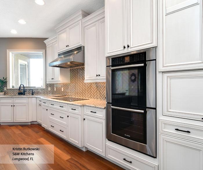 glazed kitchen cabinets bakers rack white omega cabinetry