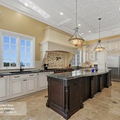 Cherry Wood Kitchen Island Apron Front Sinks Artesia Raised Panel Cabinet Doors - Omega Cabinetry