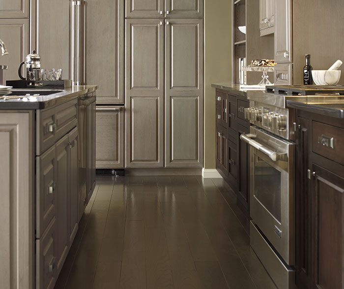 cherry wood cabinets kitchen square table pumice cabinet finish on - omega cabinetry