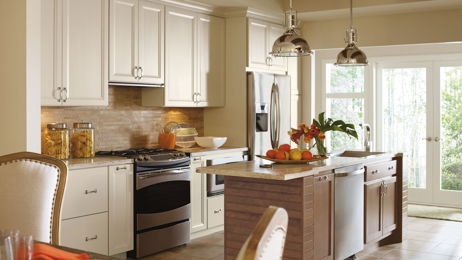 Painted Maple Cabinets In A Casual Kitchen Omega