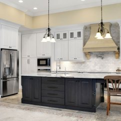 Colored Kitchen Islands Bench Seating For With White Cabinets And A Gray Island Omega Design Style Room Casual